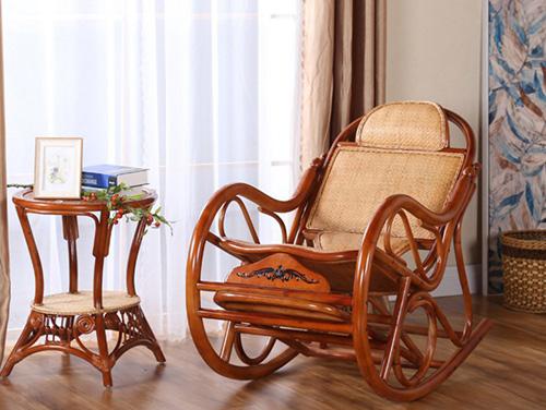 厂家直销批发 中式藤椅 摇椅 躺椅 阳台逍遥椅 客厅休闲睡椅