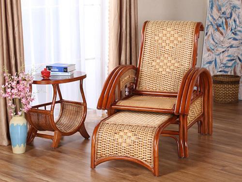 中式藤椅摇椅躺椅拉伸阳台客厅休闲拉伸躺椅睡椅逍遥椅1