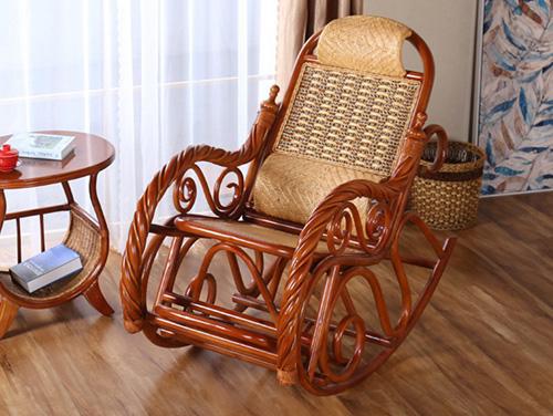 中式藤椅摇椅躺椅拉伸阳台客厅休闲拉伸躺椅睡椅逍遥椅
