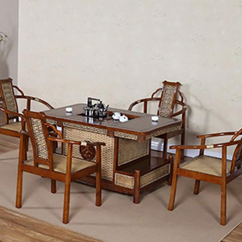 1.3米茶水桌 泡茶椅 进口辐射松实木茶桌茶椅