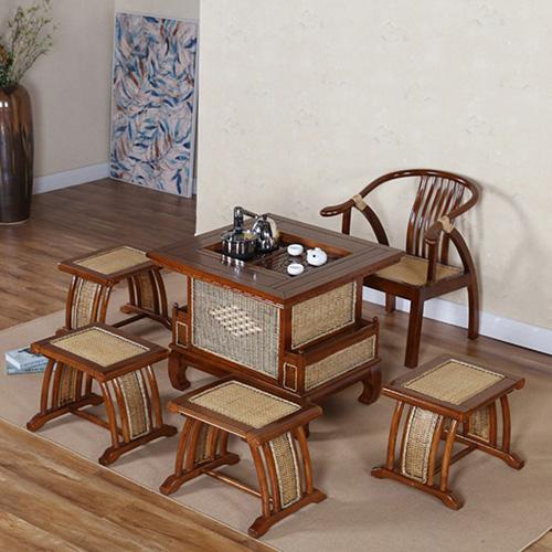 茶水桌 泡茶椅 进口辐射松实木茶桌茶椅可定做