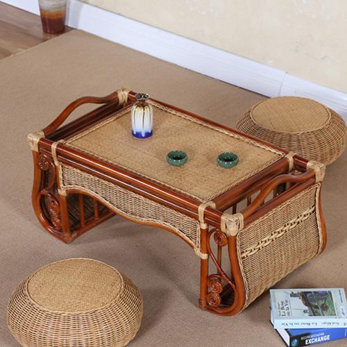 中式榻榻米 藤编 阳台 卧室休闲茶椅坐垫