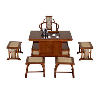 1.2米茶水桌 泡茶椅 进口辐射松实木茶桌茶椅